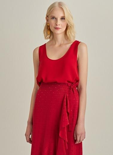 Ng Style Krep Kumaşlı Kolsuz Bluz Kırmızı